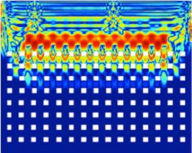 Bild von Spinwellen in einem nanostrukturierten magnetischen Film